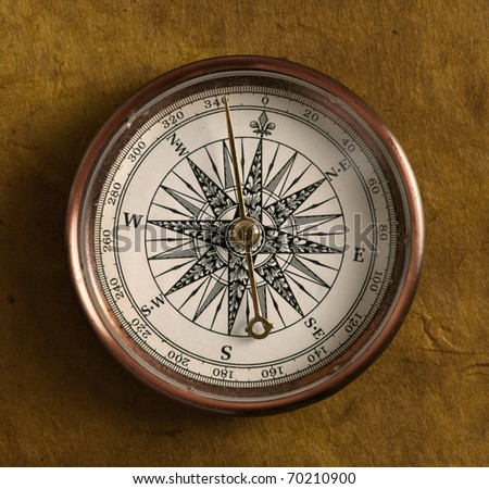 Compass on grunge background
