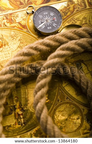 Compass on the rope