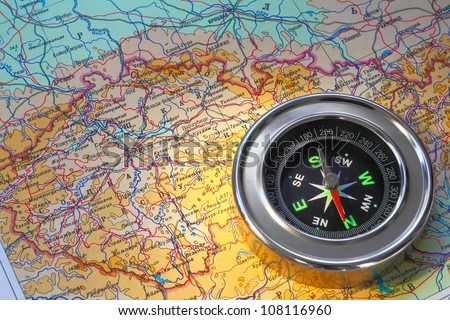 compass over map