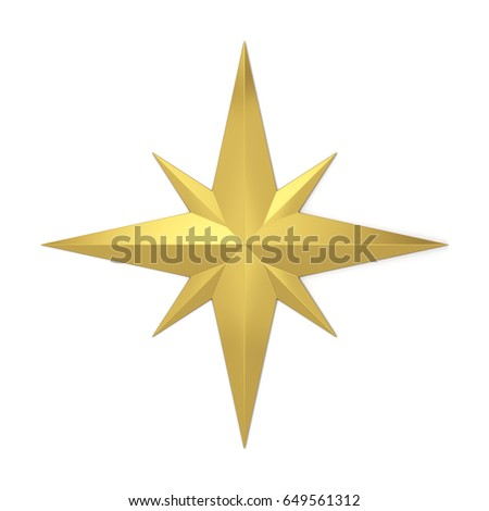 Compass rose symbol. 3d illustration isolated on white background  #649561312