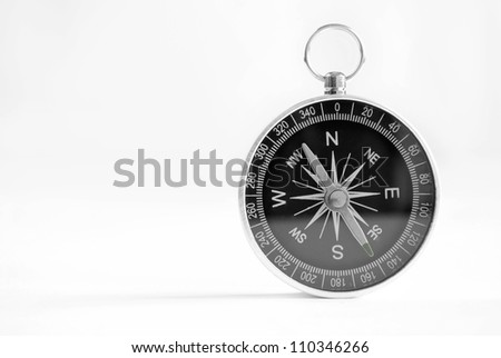 compass to determine the path and navigation.