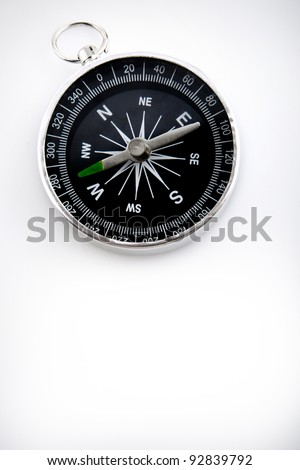 compass with black dial