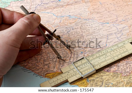compasses and slide-rule