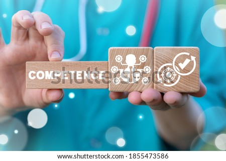 Competence Skill Personal Development Medical Concept. Medicine Personnel roles and responsibilities. Duty Liability Healthcare Workers. Stock photo ©