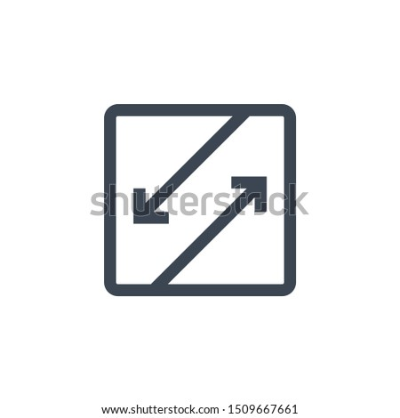 Competing Interests related glyph icon. Isolated on white background. illustration.