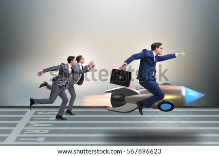Competition concept with two businessmen #567896623