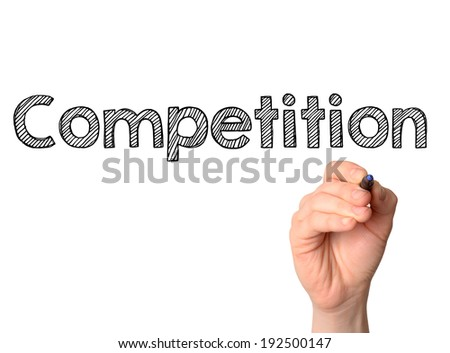 Competition handwritten on white background