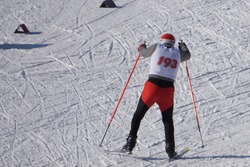 Competitions in skiing Ski race winter weather