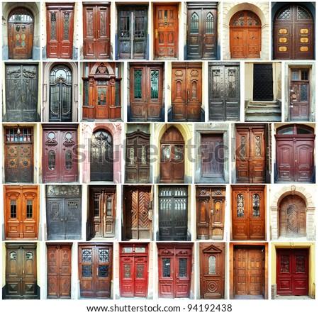 Compilation of old doors (Ukraine)