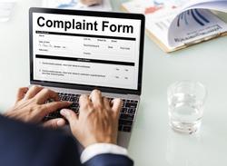 Complaint Form Customer Response Concept
