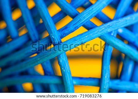 Complementary Colors wicker close up / abstract background