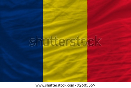 complete national flag of  chad covers whole frame, waved, crunched and very natural looking. It is perfect for background