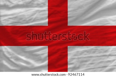 complete national flag of england covers whole frame, waved, crunched and very natural looking. It is perfect for background