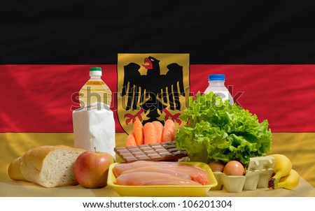 Germany - national flag and outline maps