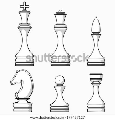 Chess Pieces Queen Drawing