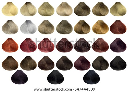 hair colors palette hair colours set tints dyed hair