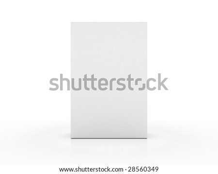 completely clear box on a slightly reflecting plane