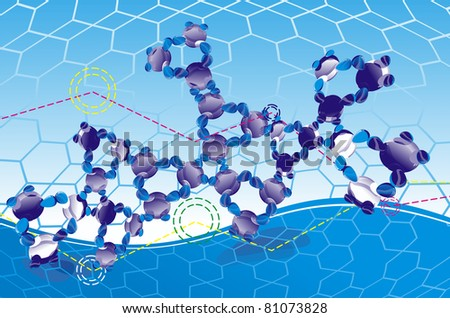 complex  DNA molecule at an abstract background