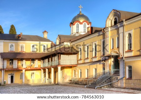 Complex of buildings of the ancient Christian monastery on Mount Athos #784563010