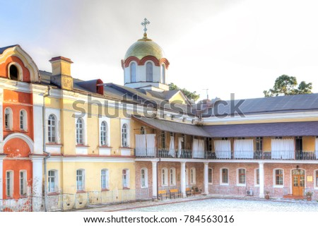 Complex of buildings of the ancient Christian monastery on Mount Athos #784563016