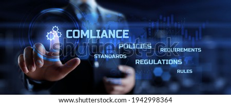 Compliance Law Rules Policy Regulation Business and Technology concept. Stock photo ©