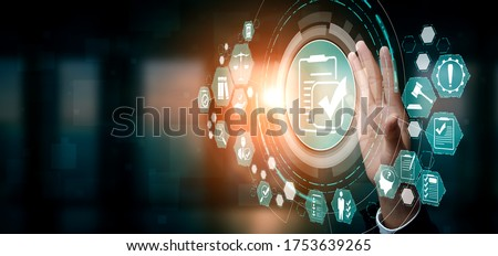 Compliance rule law and regulation graphic interface for business quality policy planning to meet international standard. Stock photo ©