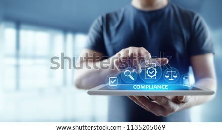 Compliance Rules Law Regulation Policy Business Technology concept. #1135205069