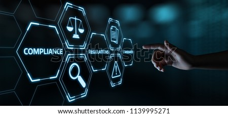 Compliance Rules Law Regulation Policy Business Technology concept. Photo stock ©
