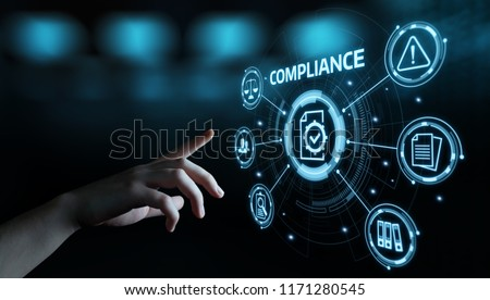 Compliance Rules Law Regulation Policy Business Technology concept. #1171280545