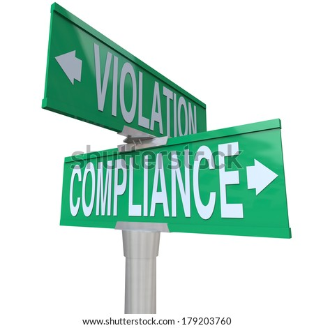 Compliance Violation Two Way Street Signs Direction Follow