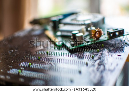 components desktop PC motherboard desktop PC motherboard cooler video card connectors video card DVI VGA #1431643520