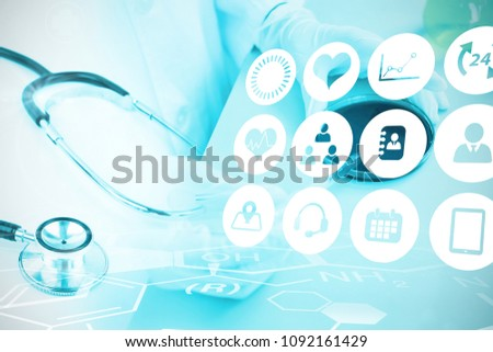 Composite image of medical icons set #1092161429