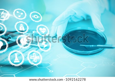 Composite image of medical icons set #1092162278