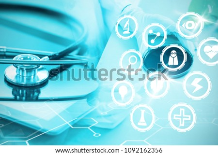 Composite image of medical icons set #1092162356