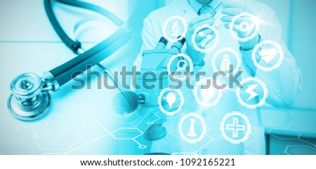 Composite image of medical icons set #1092165221