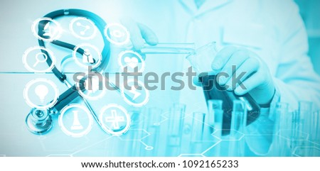 Composite image of medical icons set #1092165233