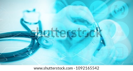 Composite image of medical icons set #1092165542