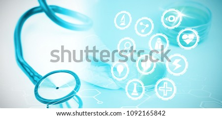 Composite image of medical icons set #1092165842