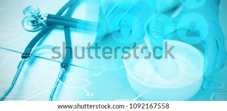 Composite image of medical icons set #1092167558