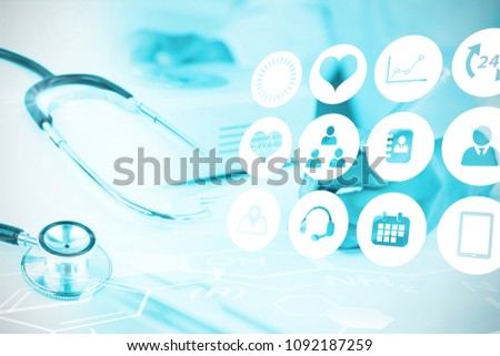 Composite image of medical icons set #1092187259