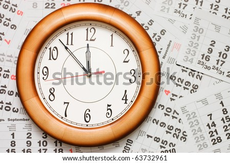 Composite of Calendar and Clock