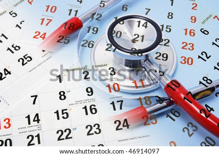 Composite of Calendar and Stethoscope