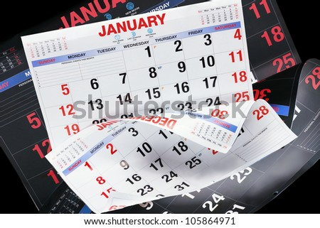 Composite of Calendar Pages