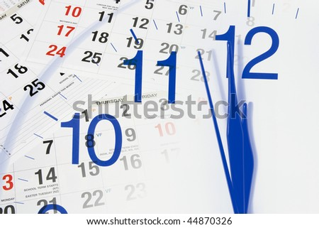 Composite of Clock and Calendar Pages