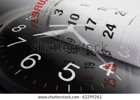Composite of Clock and Calendars