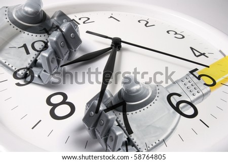 Composite of Clock and Robot Hands
