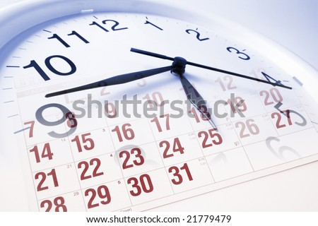 Composite of Clock Face and Calendar