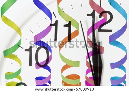 Composite of Clock Face and Streamers