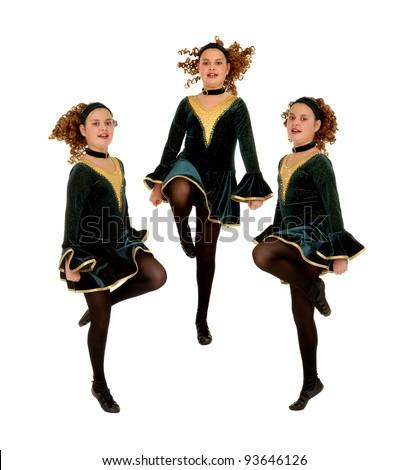 Composite of Irish or Celtic Dance Trio Routine