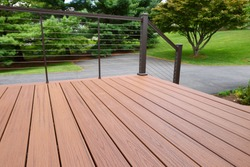 Composite Wood Deck with Metal Railing